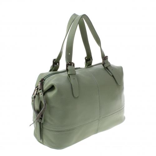 4f206b652701 Стильная женская сумочка-бочонок Sofia_Star из натуральной кожи бирюзового  цвета.