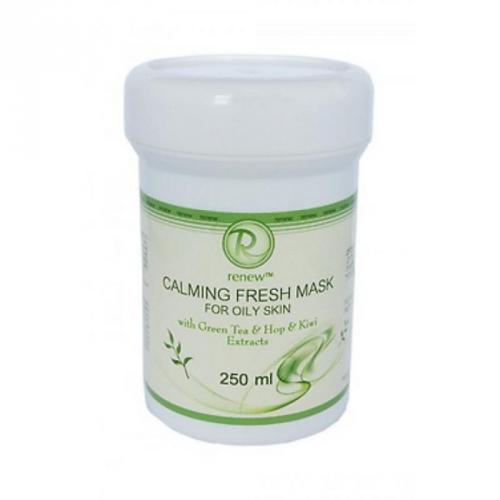 Успокаивающая и освежающая маска для жирной кожи с экстрактами зеленого чая, шишек хмеля и киви ., 9025250, 250 мл., Renew