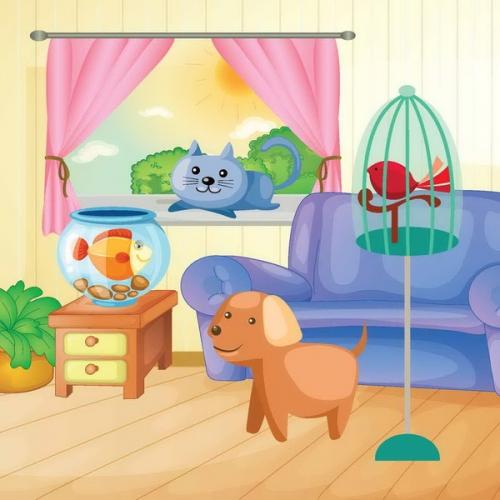 Домашние животные: водораскраска-пазл ISBN
