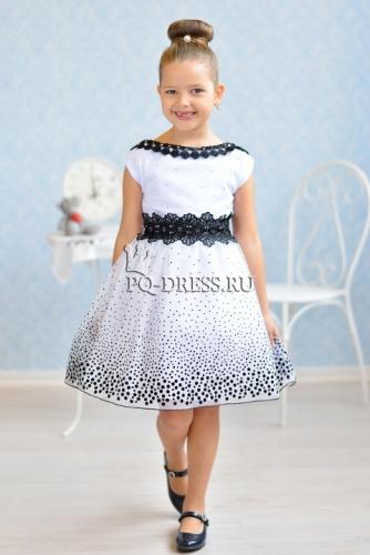e89d755e330c535 Платье нарядное для девочки арт. ИР-1404. Irish'ko