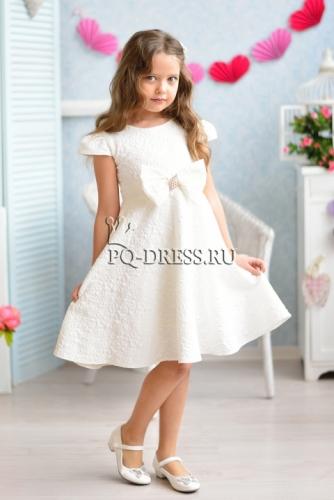 3c8e7ce1d5d50e3 Платье нарядное для девочки арт. ИР-1601, цвет молочно белый. Irish'ko