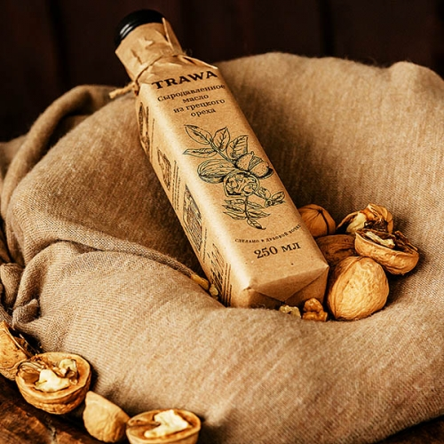 Масло грецкого ореха сыродавленное, Trawa, 250 мл Россия