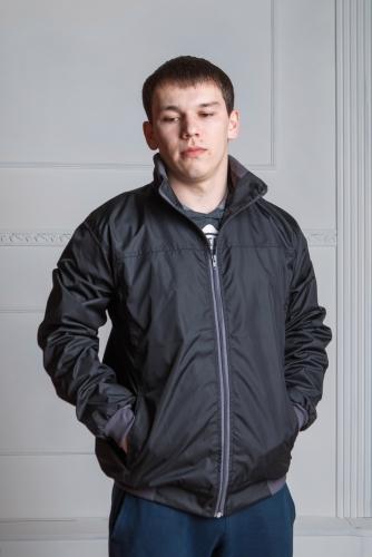 Арт. KM. Мужская куртка-ветровка, цвет-черный