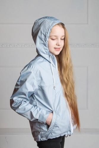 Арт.KPD Куртка-ветровка,подростковая, однотонная серый