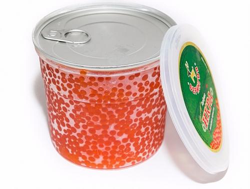 Икра Горбуша 500 гр пластик вакуумная упаковка Премиум