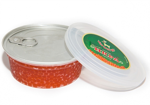 Икра Горбуша 200 гр пластик вакуумная упаковка Премиум