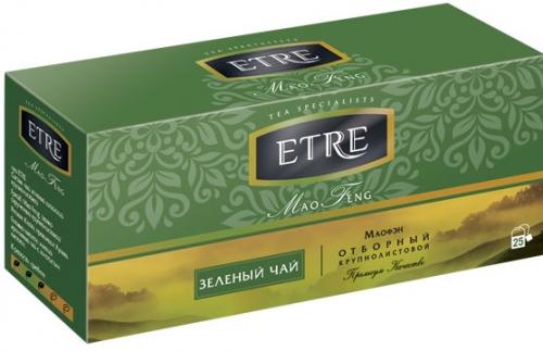 ТВ882 Чай Etre пакетированный Mao Feng чай зеленый, 25 пакетиков