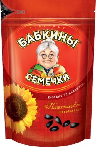 БС854 Бабкины семечки отборные, жареные, 500 г
