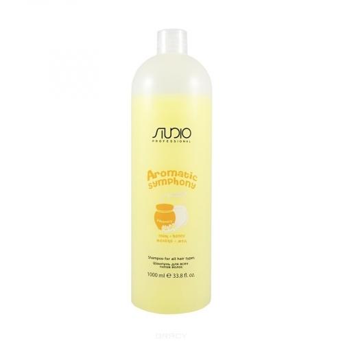 Kapous AS Шампунь для всех типов волос и частого применения с ароматом Мед+молоко Studio, 1000мл