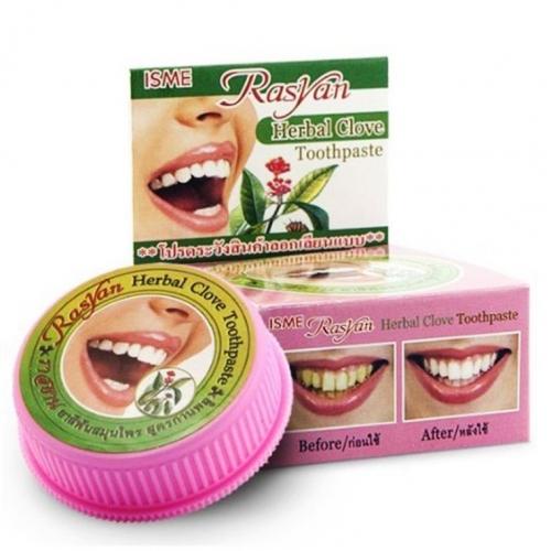 Травяная зубная паста с гвоздикой без фтора, Herbal Clove Toothpaste Isme Rasyan, 25 г