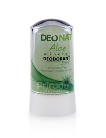 Минеральный дезодорант стик ДеоНат с экстрактом Алое и глицерином, 60 г