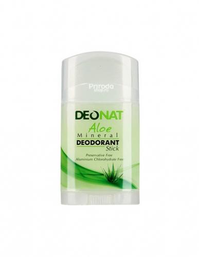 Минеральный дезодорант стик ДеоНат с экстрактом Алое и глицерином, 100 г