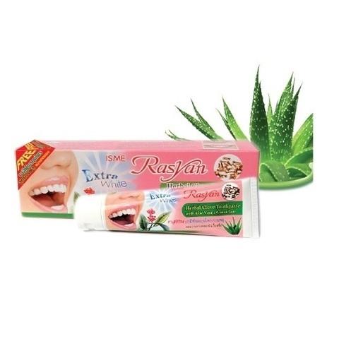 Травяная зубная паста без фтора, Herbal Clove Toothpaste with Aloe Vera&Guava Leaf Isme Rasyan, 30 г