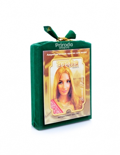 Аюрведическая краска для волос Золотой блонд Ааша, 100 г
