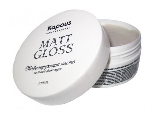 Kapous STY Моделирующая паста для волос сильной фиксации ''Matt gloss