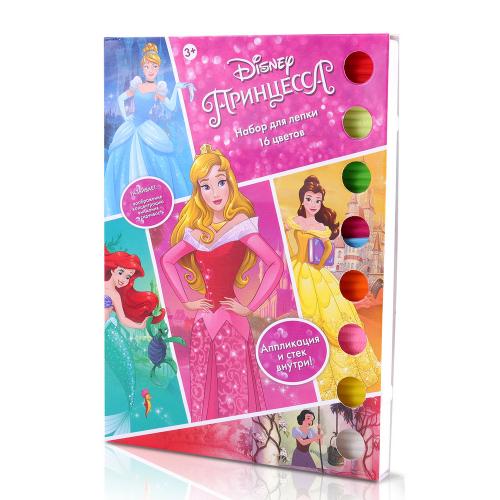 **Disney Набор для лепки «Принцесса» (16 цв., 320 г, апплик., стек)