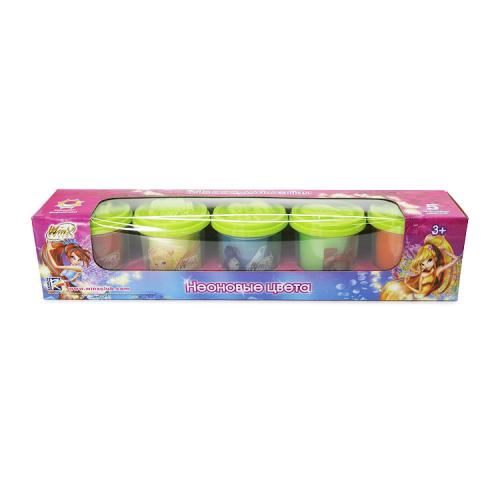 Winx Масса для лепки (5 неоновых цв., 140 г, формочки)