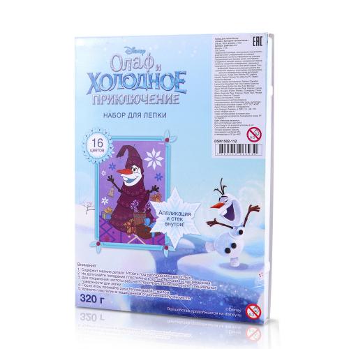 Disney Набор для лепки «Олаф и Холодное приключение» (16 цв., 320 г, апплик., стек)
