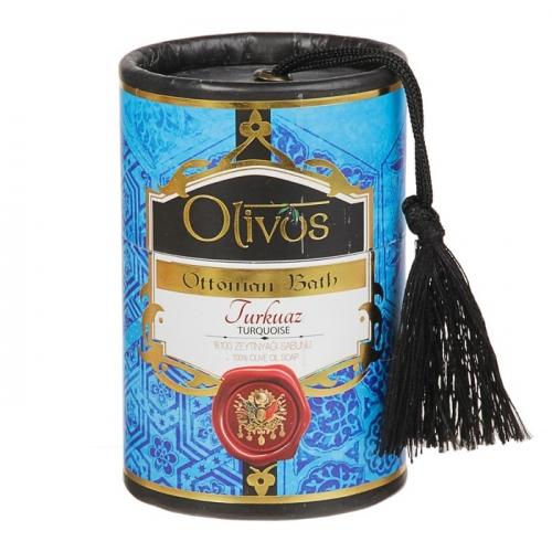 Мыло для лица, тела и волос Olivos Ottoman Bath Tuequoise, 2х100 г