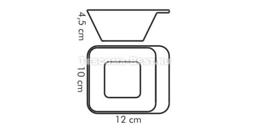 Салатник глубокий  10х12 см
