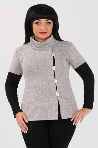 2В МЕРИНДА Блуза светло серый