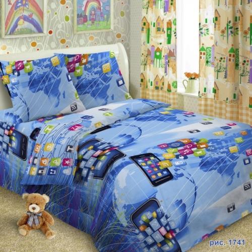 Комплект постельного белья, 1,5-сп.,СБ1741