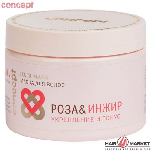 Маска для волос Роза&Инжир Укрепление и тонус (Power&Tonus hair mask), 350 мл