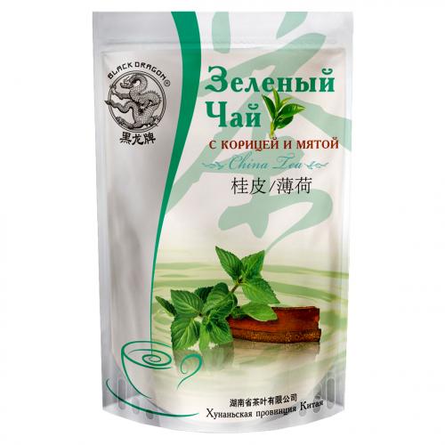 чай Черный дракон китайский зеленый корица,мята  100гр 1/25