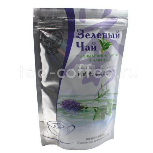 чай Черный дракон кит. зеленый с розмарином, мятой и лавандой 100гр 1/25