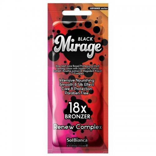 "Крем д/солярия ""Mirage""18х bronzer, 15мл (масло жожоба,экстрактами моркови,шиповника)"