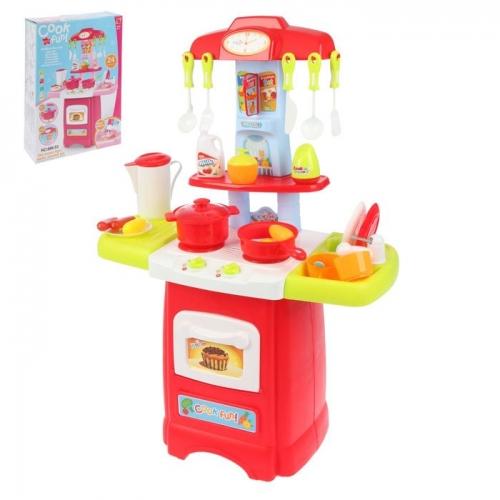 Игровой модуль «Модная кухня» с аксессуарами, световые и звуковые эффекты, бежит вода из крана, 24 предмета