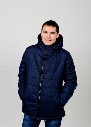 Куртка мужская демисезонная,с утеплителем.Цвет-синий Арт.КМ-002