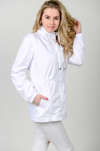 990 1290Куртка-ветровка женская,без капюшона,цвет-белый,Aрт. KG-003