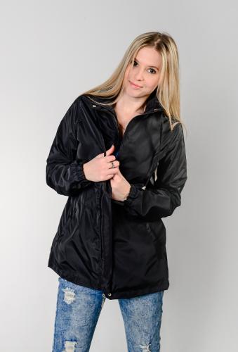 990 1290Куртка-ветровка женская,без капюшона,цвет-черный Aрт. KG-003.