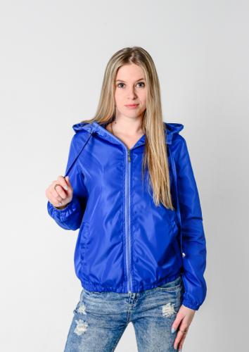 890 1190Куртка-ветровка женская,с капюшоном,цвет-васильковый Арт. KG-002