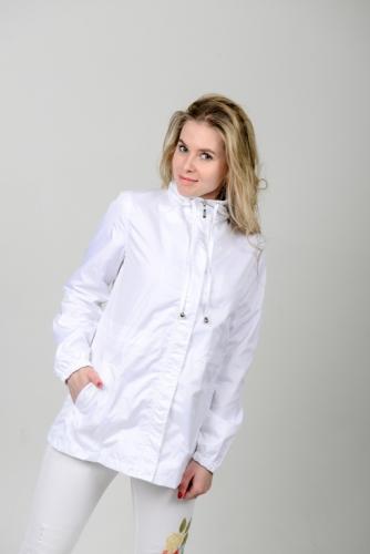 Куртка-ветровка женская,без капюшона,цвет-белый,Aрт. KG-003