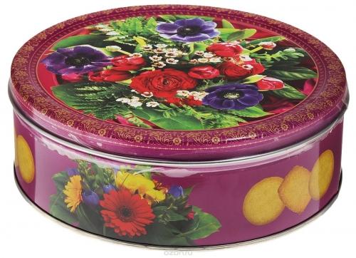 Букет в лиловых тонах, печенье Monte Christo • 400.00 г