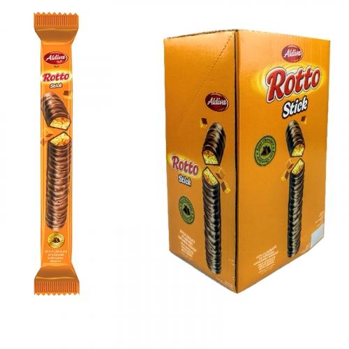 ROTTO STICK печенье с карамелью, покрытое молочным шоколадом • 47.00 г