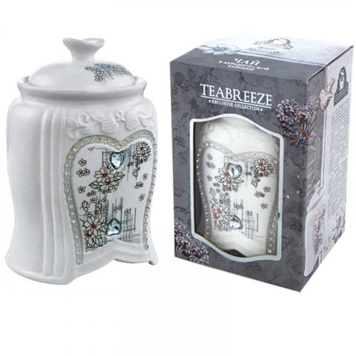 Подарочный набор.Керамическая чайница (чай