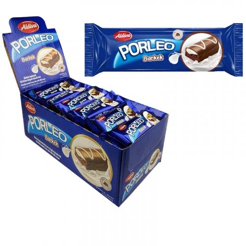 PORLEO кекс с молочным кремом, покрытый молочным шоколадом • 25.00 г