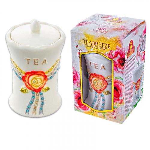 Подарочный набор Керамическая чайница Европейская кол. (чай Оолонг Ти Гуан Инь) • 100.00 г
