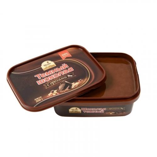 Темный шоколад с орехами (литой) 1219