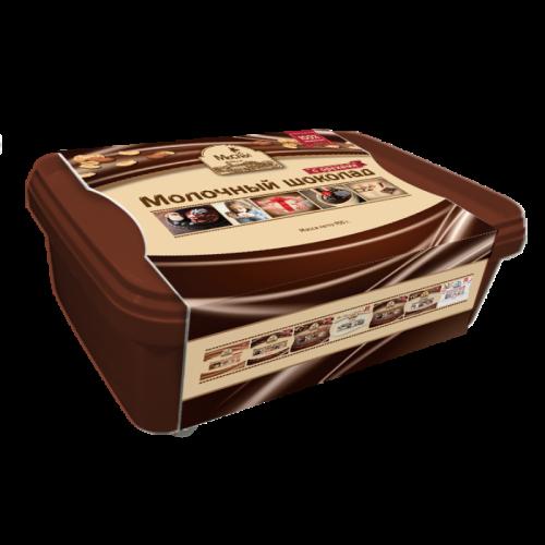 Молочный шоколад литой  с орехами1228