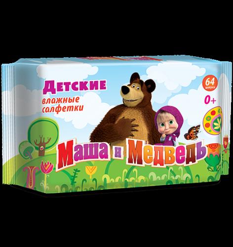 Маша и Медведь №64 Влажные детские салфетки