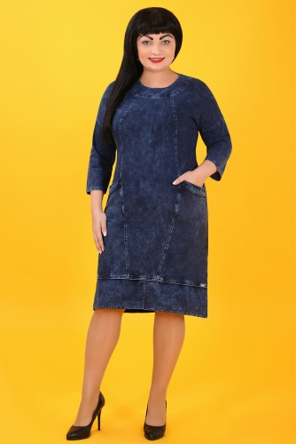 СИМАН Т-394 Платье джинсовое
