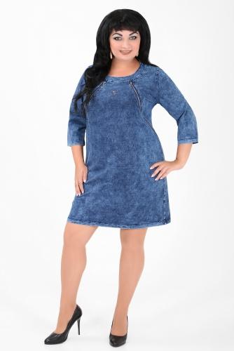 СИМАН 5067 Платье джинсовое