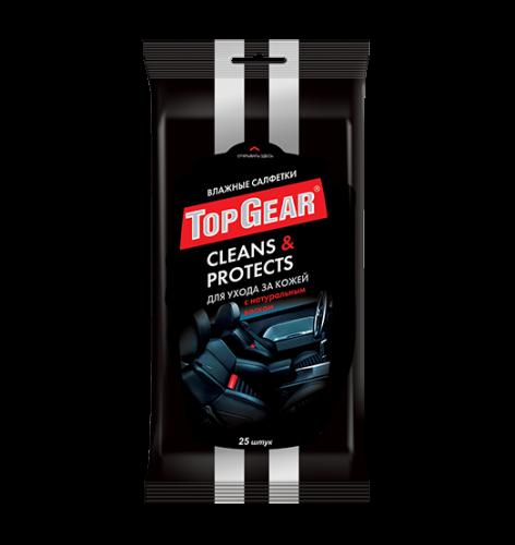 Top Gear №25 влажные салфетки  для ухода за кожей