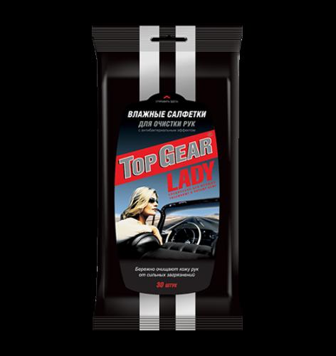 Top Gear  Lady №30 влажные салфетки для рук