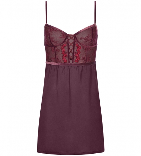 Lace-Up Spotlight AW18 NDW 01 BALCONETTE, 00EG DEEP BURGUNDY