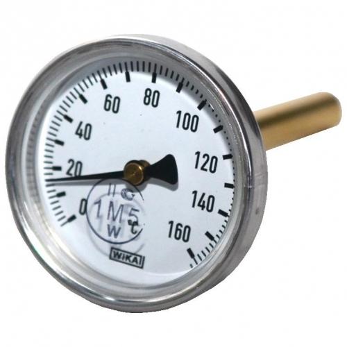 Термометр биметаллический, осевой, 0-160°С
